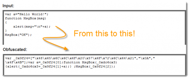 Unreadable or Hide Your jQuery Source Code
