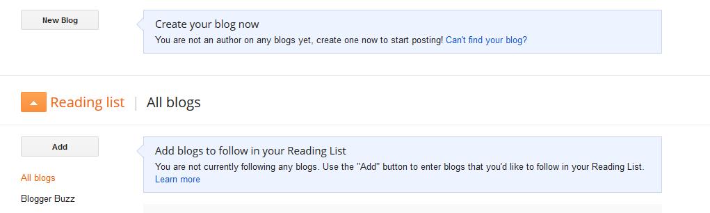 Creating a Blogger Blog