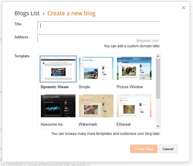 Naming you blogger blog