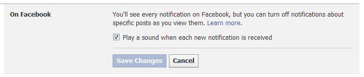 Facebook Beeping Sound
