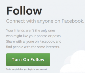 How to turn off or turn on follow in Facebook