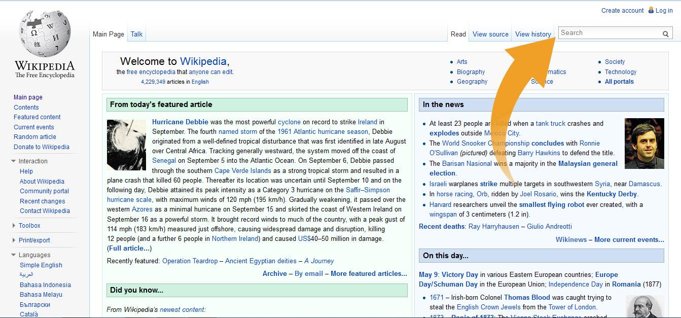Search Wikipedia