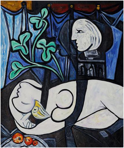 Nude, Green Leaves and Bust (1932) - Pablo Picasso