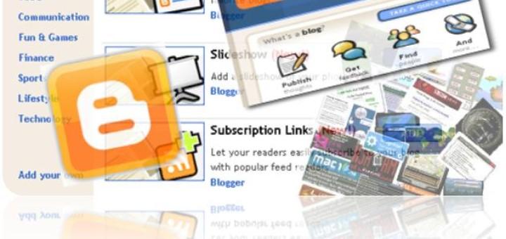 Adding a widget or a gadget to blogger