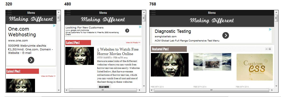 Google AdSense for Responsive Web Design