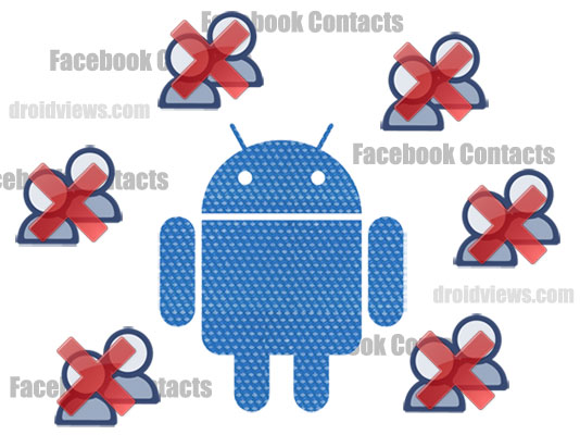 how to delete facebook contacts from android phone