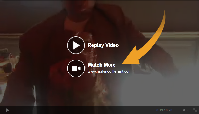 Call to action button in Facebook Video