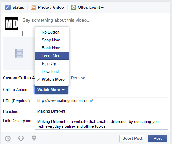 Add Call to Action Button to Your Facebook Videos for Free