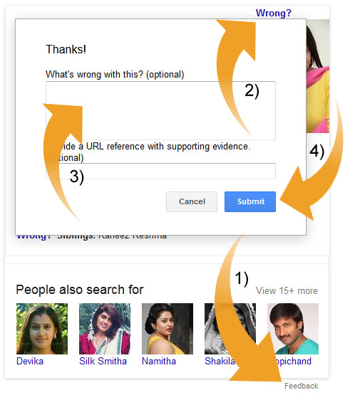 Google Search Feedback