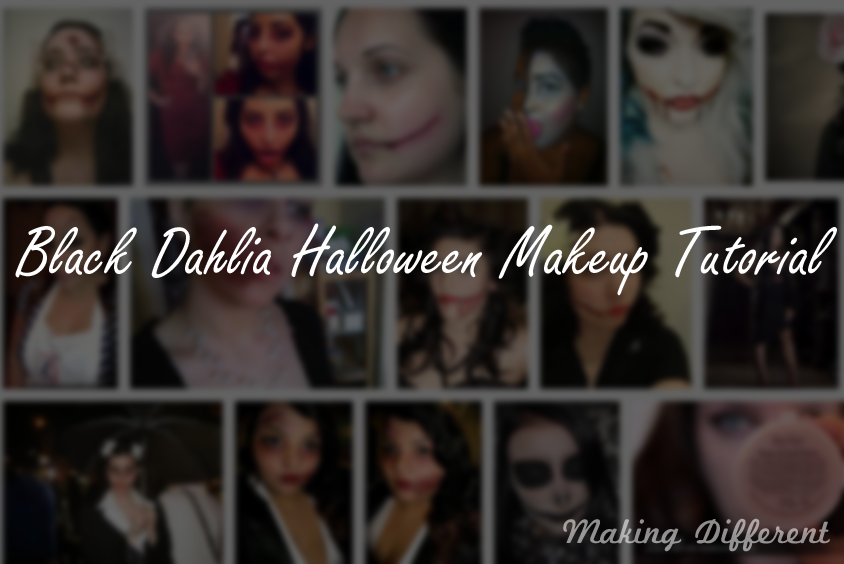 Makeup of Black Dahlia on Halloween: Halloween Makeup Ideas