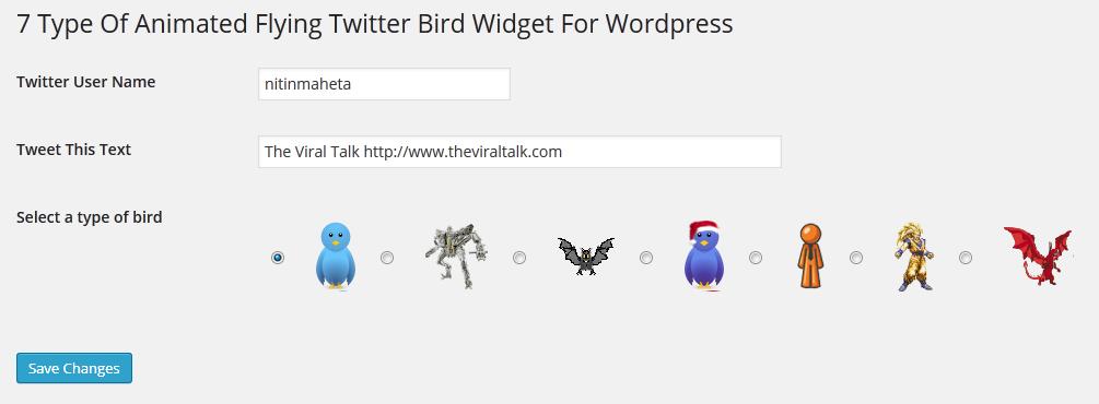 Flying Twitter Bird Plugin for WordPress