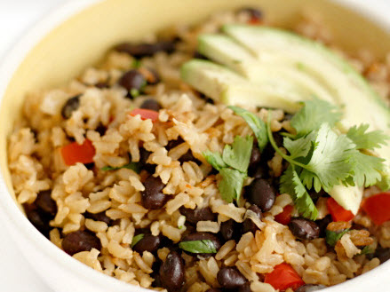 Brown-rice-with-beans