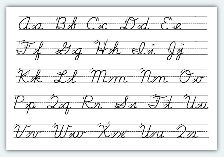 How to write in cursive for beginners Calligraphy alphabet cursive