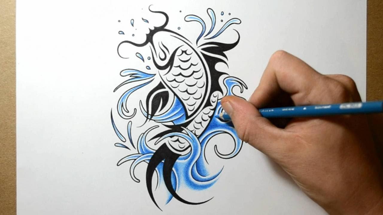 Fish-Tattoo-Design-Drawing