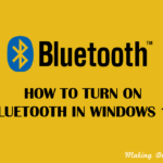 How to Turn on Bluetooth in Windows 10