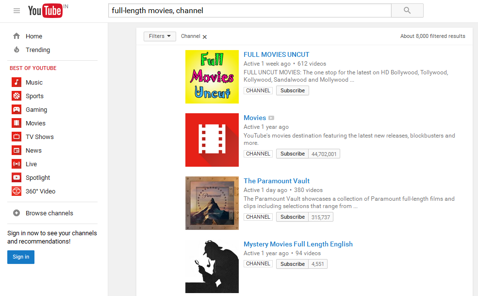 YouTube-Full-Movies-Channel-Search