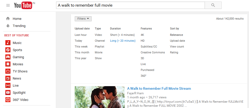 YouTube-Search-Filter
