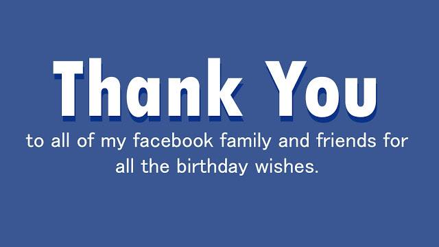 To All My Friends And Family Thanks For Making Day A Happy One