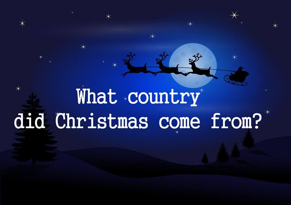 What country did Christmas come from?