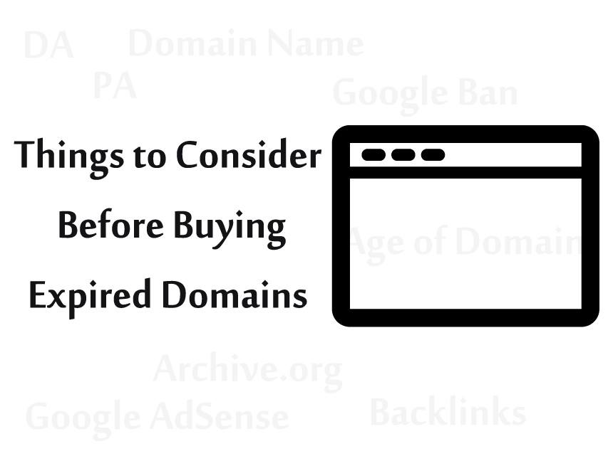 Things to Consider Before Buying Expired Domains